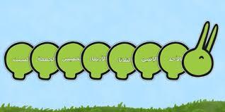 days of the week on giant caterpillar arabic arabic