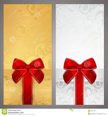 voucher gift certificate coupon boxes bow royalty free stock