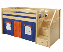 Bunk Beds Tents Wooden Bunk Bed With Drawers On The Stairs Combined
