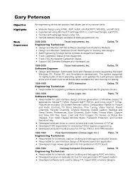 Job Resume Format Word by Electronics Engineer Resume Format Resume For Your Job Application