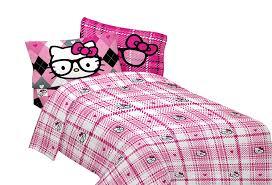 amazon com sanrio hello kitty i heart nerd microfiber sheet set