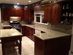 river white granite with dark cabinets cherry cabinets and granite countertops xtrons store com