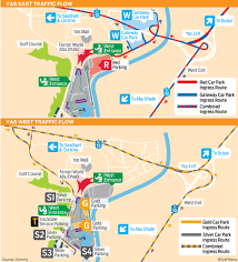 Map Of Abu Dhabi Abu Dhabi Grand Prix Organisers Release Traffic Map Gulfnews Com