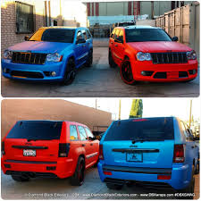 tiffany blue jeep jeep grand cherokee srt8 wrapped in matte blue aluminum by dbx