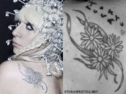 lady gaga u0027s tattoos u0026 meanings steal her style