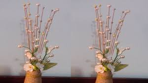 decorative flower decorative flower sticks using pearls flower vase using