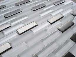 glass tile kitchen backsplashes pictures metal and white chevron stainless steel backsplash tile ooooooh love this