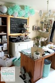 Craft Room Makeovers - home office craft room makeover chic california
