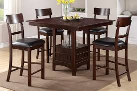 5 piece counter height dining set with built in lazy susan f2346 s5