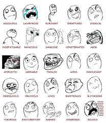 Meme Faces In Text Form - types of meme faces memeshappy com