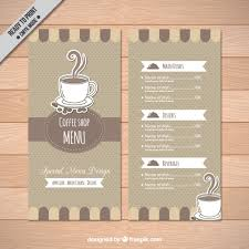 coffee shop menu template coffee shop menu template vector free