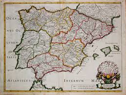 Spain Map Antique Map Ancient Spain Virtual Rare Map Fair 1012235