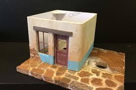 modeling adobe walls with illustration board model railroad