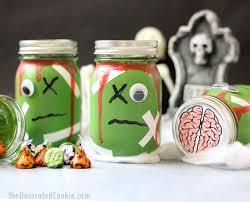 zombie mason jars with free brains printable
