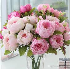 silk flowers 2018 artificial peonies silk flowers real touch leaf home and