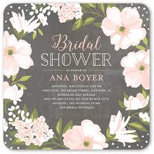 bridal shower invitation beautiful bouquet 5x5 stationery bridal shower invitations