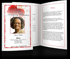 create funeral programs using templates to create funeral programs