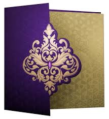 hindu wedding invitations online wedding invite in rich purple with golden patterns