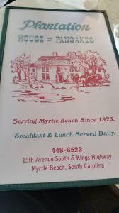 plantation house of pancakes myrtle beach restaurant reviews