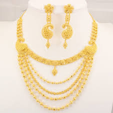 gold set 22 carat indian gold 5 chain necklace set 70 4 grams gold forever