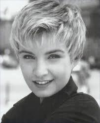 short wispy hairstyles for older women very short wispy layered hair style with wispy bangs blonde