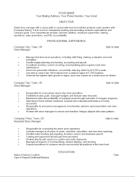 Retail Management Resume Examples by Free Retail Manager Resume Template Sample Ms Word