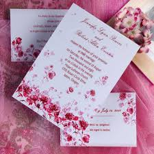 Red Wedding Invitations Red Rose Wedding Invitations Christmanista Com