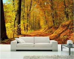 online get cheap road wall mural aliexpress com alibaba group beibehang wallpaper custom size covered with leaves of the mountain road early autumn forest 3d wall murals papel de parede