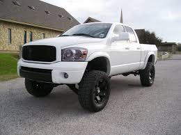 dodge ram white grill let s see all the lifted 2wd s out there dodgeforum com