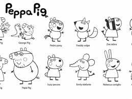 colouring pages peppa pig print free printable pig coloring pages