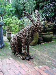 outdoor garden animals woven outdoor animal statues by