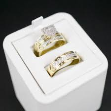 wedding ring trio sets gold diamond trio wedding set 30 cadillac jewelry