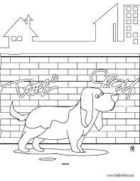 basset hound coloring pages hellokids com