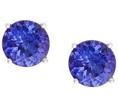 tanzanite stud earrings premier 1 40 cttw tanzanite stud earrings 14kgold page 1 qvc