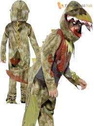 Child Dinosaur Halloween Costume Deluxe Deathly Dinosaur Children Boys Smiffys Fancy Dress Costume