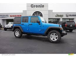 blue jeep wrangler unlimited 2016 hydro blue pearl jeep wrangler unlimited sport 4x4 108435686