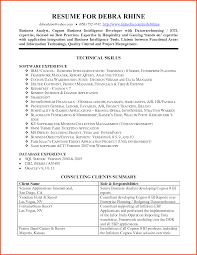 Business Analyst Resume Summary Examples by Resume Financial Analyst Best Free Resume Collection