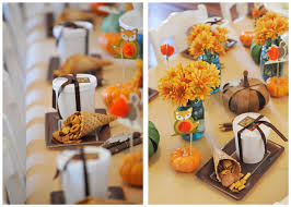 Thanksgiving Table Ideas by Mini Thanksgiving Decorating Ideas For Kids With Bow Coffee Cups