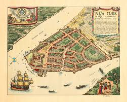 A Map Of New York State by New York In 1674 Lower Manhattan Vintage Map Battlemaps Us