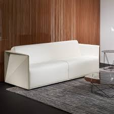 white leather 2 seater sofa contemporary sofa leather 2 seater white t ray by hadi