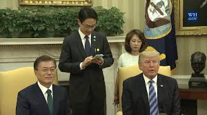 trump oval office pictures president trump meets with president moon in the oval office 6 30