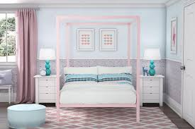 Pink Canopy Bed Dhp Furniture Modern Metal Canopy Bed