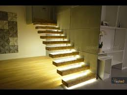 led strip lights for stairs stairs led lighting linear led lights in the stairs youtube