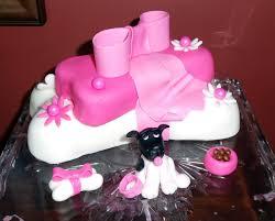 pink puppy shower dogbone cake coniss u0027s cakes pinterest cake