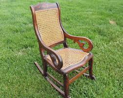 Cane Rocking Chair Woodrocker Baby Kids Toy Plush Rocking Horse Rider Toddler Seat