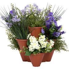 pure garden stackable planters set of 3 walmart com
