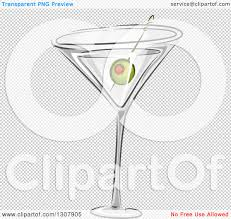 martini olive vector clipart of a martini cocktail with a green olive royalty free