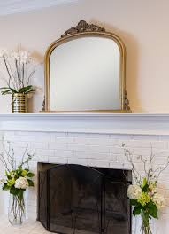 amarone gold over mantle mirror selections by chaumont