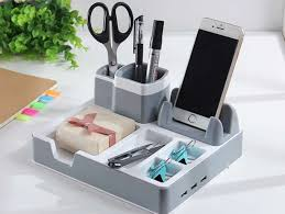 phone charger organizer workspace desktop storage organizer and phone charging station