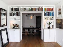 Built In Cabinets In Dining Room by Custom Bookshelves With Ladder Nyc U2014 Urban Homecraft